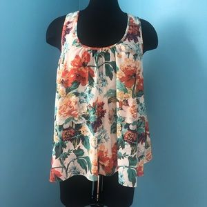 Antropologie Meadow Rue Floral Tank